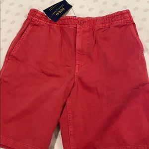 pink men's shorts polo